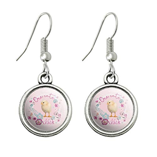 GRAPHICS & MORE One Cute Chick Chicken Easter Spring Novelty Dangling Drop Charm Earrings