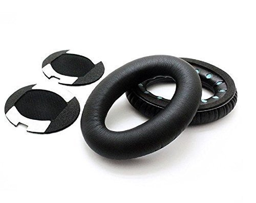 Price comparison product image SSJ:QC15 / QC2 / QC25 Memory Foam Replacement Ear Cushion with Soft Protein Leather Over-Ear Earpads Earcups for Bose QuietComfort