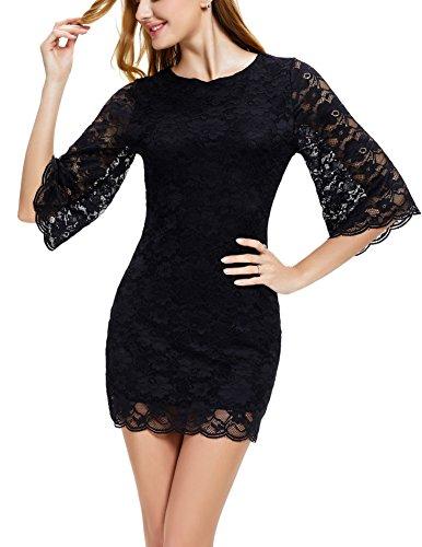 3/4 sleeve club dresses - 2