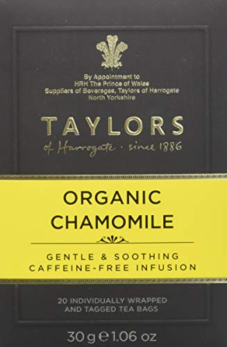 Taylors of Harrogate Organic Chamomile Herbal Tea, 20 Teabags (Blossom Coffee Apple)