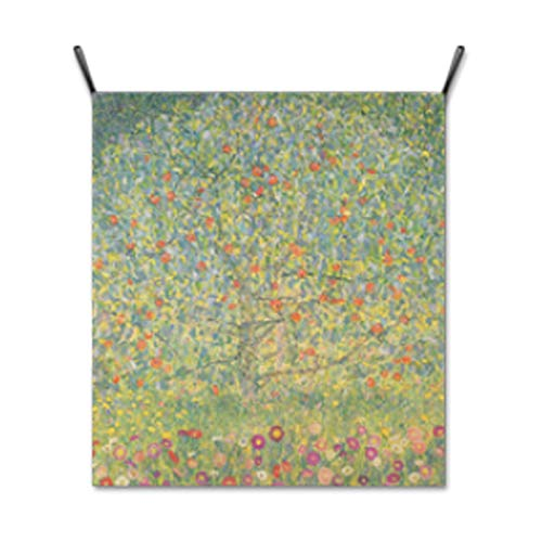 """AbundanceHomeDesign Apple Tree Gustav Klimt/Hanging Poster/Tapestry Wall Hanging/Printed on Premium Fabric/Famous Painting Art Collection - Large 39.37""""x35.43"""""""