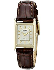 Seiko Women's SUP252 Analog Display Japanese Quartz Brown Watch
