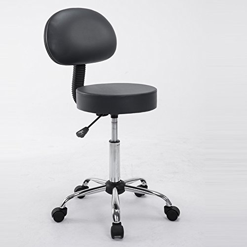 Soft cushion backrest stool / barber shop stool, bar stool / computer chair / salon chair ( Color : Black ) by Xin-stool