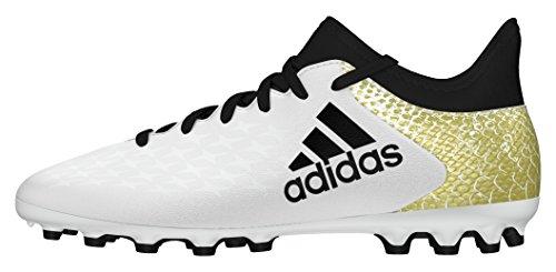 adidas Unisex-Kinder X 16.3 AG J Fußballschuhe Weiß (Ftwr White/Core Black/Gold Metallic)