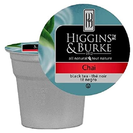 Higgins and Burke Tea Capsules Chai Package compatible with Keurig K-Cup Brewers, 48 Count
