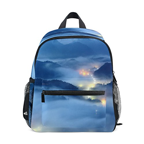 - imobaby Beautiful Landscape Fog Light Unisex Outdoor Daypacks Bags 2th 3th 4th Grade School Backpack for Kids Boys Girls