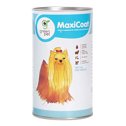 Cheapest Maxicoat Small Dog Vitamin Nutritional Supplement For Healthy, Softly and Shiny Hair. Supplement Yeast and Sesame Oil With Probiotic and Prebiotic (FOS) For Dogs Under 10 Kg 500 mg. (500 Tablets) Check this out.
