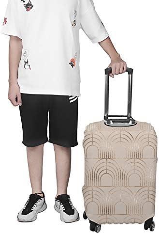 スーツケースカバー 金のアーチタイル 伸縮素材 キャリーバッグ お荷物カバ 保護 傷や汚れから守る ジッパー 水洗える 旅行 出張 S/M/L/XLサイズ