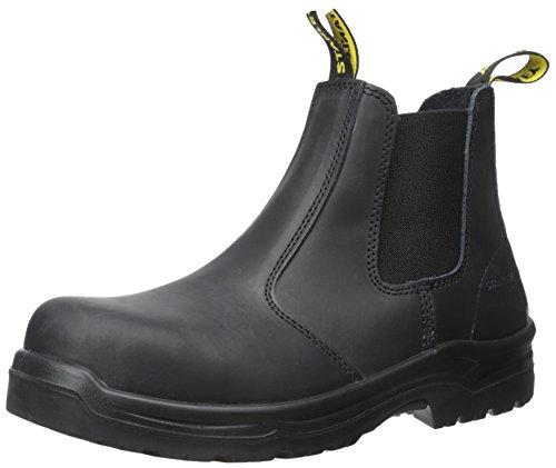 Stanley Men's Dredge Steel Toe Work Boot, Black, 9 D US