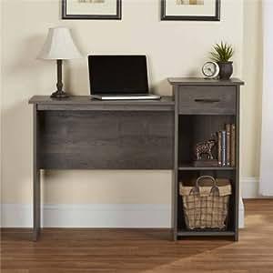 Mainstays Student Desk - Home Office Bedroom Furniture Indoor Desk - Easy Glide Accessory Drawer (Desk Only, Rodeo Oak)