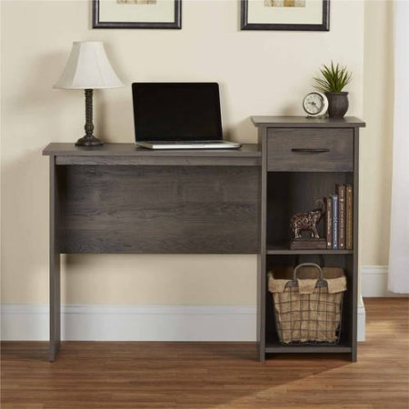 Mainstays Student Desk - Home Office Bedroom Furniture Indoor Desk - Easy Glide Accessory Drawer (Rodeo Oak) by Mainstays'