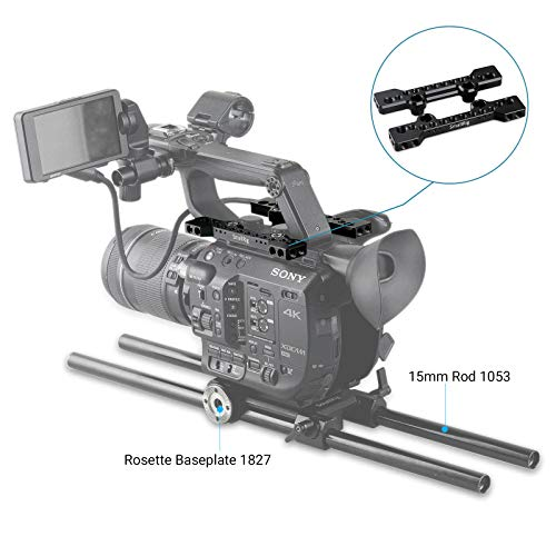 SMALLRIG Top Plate Cheese Plate for Sony PXW-FS5 / Panasonic EVA1 Camcorder - 1796