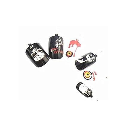 XXL-de maquillaje 12 Halloween puntas uñas postizas aerógrafo uñas ...