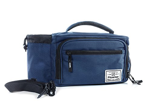 Fitpacker Lunch Bag for Men Women Kids, Insulated Cooler Bag for Work, School (2 Meal Holder, Night Blue) Containers sold separately