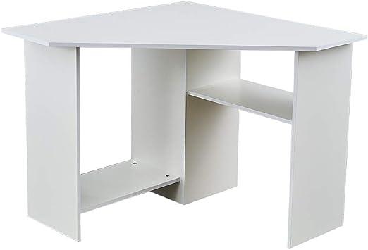 Black Corner Home Office Desk Computer Workstation PC Laptop Table with shelves