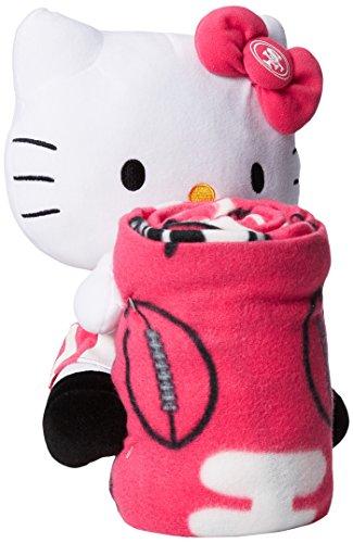 UPC 087918223370, NFL San Francisco 49ers Hello Kitty Fleece Throw with Hugger, 40 x 50-Inch, Pink