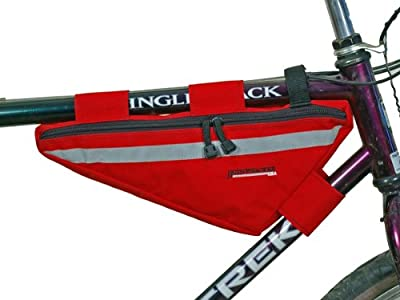 Bushwhacker Tahoe Red - Bicycle Frame Bag w/ Reflective Trim Cycling Triangle Pack Bike Crossbar Top Tube Stem Bag Front Rear Accessories