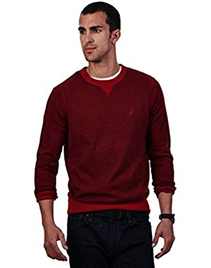 Men's Twisted Sweatshirt Crewneck Sweater