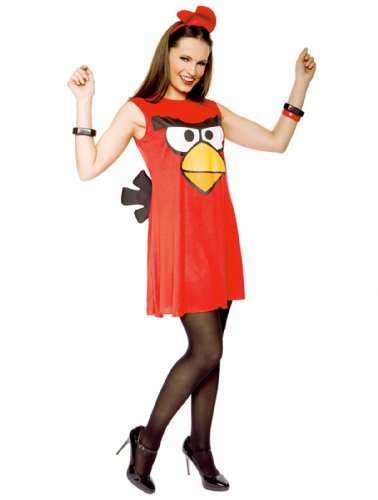 Paper Magic Angry Birds Sassy Bird Costume Dress, Red, (Angry Birds Red Bird Dress Costume)