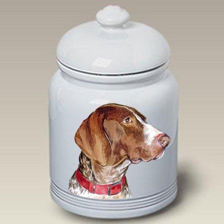 German Shorthaired Pointer Dog Cookie Jar by Barbara Van Vliet
