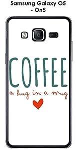 Carcasa para smartphone Samsung Galaxy-O5 On5, diseño de café, color blanco