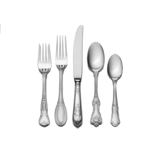 Wallace 5084512 Hotel 20-Piece 18/10 Stainless Steel Flatware Set, Service for 4