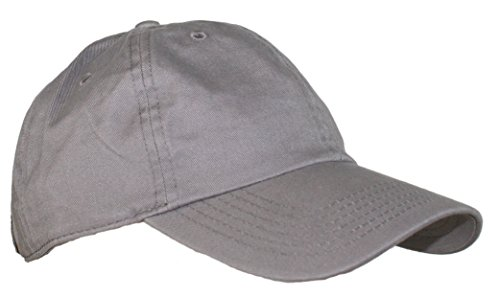 Ted and Jack - Oceanside Solid Color Adjustable Baseball Cap in Light Gray (Baseball Cap Sideline)