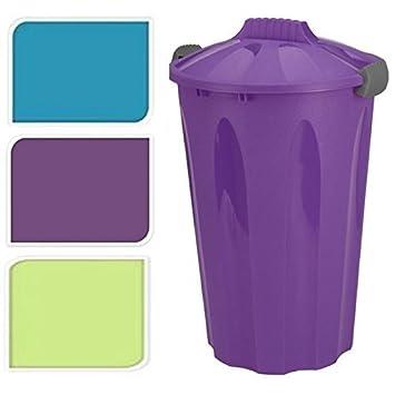 Küchen Aufbewahrungsbehälter 40 liter groß plastik abfalleimer rund müll müll recycling garten