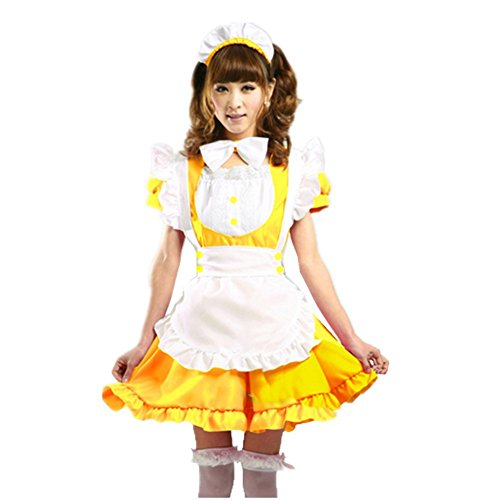 COCONEEN Cute Lolita Anime Cosplay French Maid Costumes -
