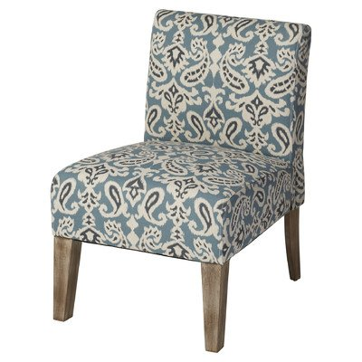 Andover Mills Spencer Slipper Chair In Blue With Kiln Dried Hardwood Frame  And High
