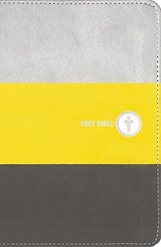NIV Boys Backpack Bible, Compact, Leathersoft, Yellow/Charcoal