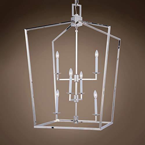(Transitional 19Th C. English Openwork Lantern 6 Light 29