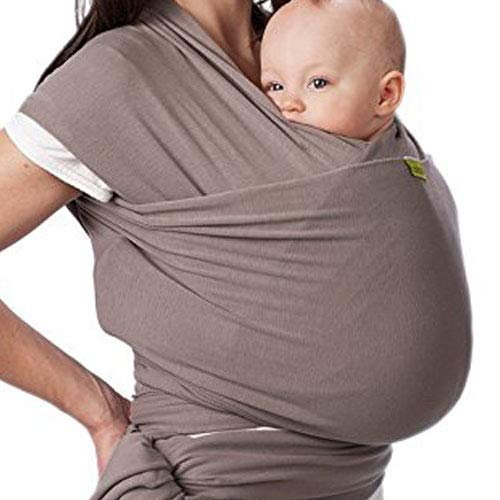 Baby Wrap Carrier - (Gray) Perfect for Infants and Babies Up to 35 lbs [0-36 Months] (Gray)