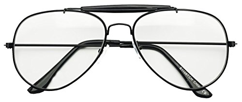 sunglassup-oversize-round-double-bar-clear-lens-metal-aviator-plastic-cross-bar-glasses-black-sun-se