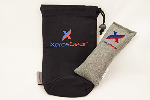 Xeros Gear Holiday Sale Anti-Bacterial Deodorizing Shin Guard Bag. A Must Have for All Soccer Players! Removes Bacteria and Odor Naturally Using 100% Moso Bamboo Charcoal. Works for a Year!