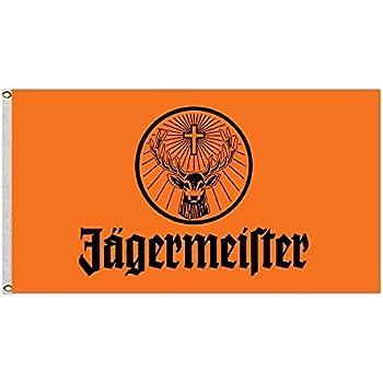 Amazon.com: MoningV Jagermeister - Bandera decorativa para ...