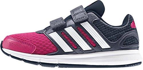 adidas LK Sport CF K - Zapatillas para niño, color rosa / blanco / gris