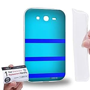 Case88 [Samsung Galaxy Grand Duos i9082 i9080] Gel TPU Phone case & Warranty Card - Art Design Cyan Bumblebee