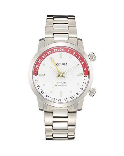 Jack Spade Men's Clarkson White Watch, Silver, One Size (Jack Spade Watch)