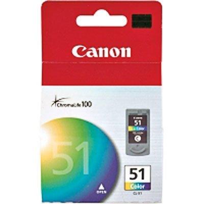 Genuine OEM brand name CANON CL-51 TRI-COLOR Inkjet (330 Yield) 0618B002