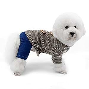 Small Lucky_store - Chaqueta de invierno con forro polar para mascota, gato, chaqueta de