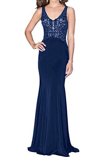 Abendkleider Royal Marie Lang Dunkel Damen Promkleider Chiffon Blau Traeger La Blau Braut Spitze Ballkleider Partykleider 8wqnAgdHx