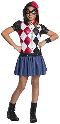 Rubie's DC Super Hero Girls Hoodie Dress Childrens Costume, Harley Quinn, Small