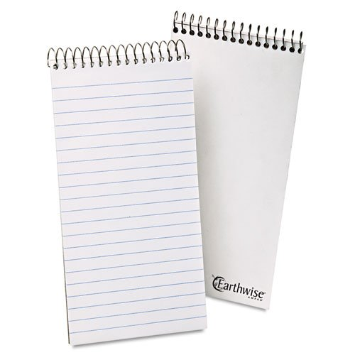 Ampad Recycled Reporters Notebook - Earthwise Ampad - Recycled Reporters Notebook, Gregg Rule, 4 x 8, White, 70 Sheets 25-280 (DMi EA
