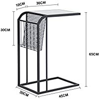 Nordic modern minimalist bedroom small table,Small coffee table,Mini bedside table wrought iron sofa side corner bedside table-C