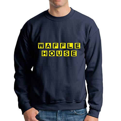 Men's Casual Waffle House Tee T Shirt O-Neck Cotton for sale  Delivered anywhere in USA