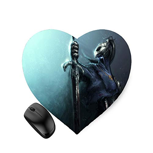 Dark Soul Fantasy Action Warrior (Heart-Shaped) Mouse Pad 8.6