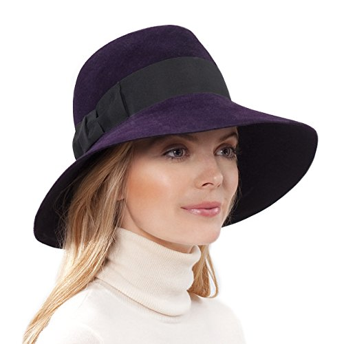 Eric Javits Luxury Fashion Designer Women's Headwear Hat - Tiffany - Plum by Eric Javits