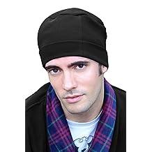 Mens Night Cap - Cotton Sleep Cap for Men Black