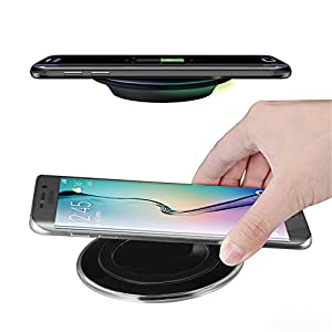 Best Quality Ayat Qi Wireless Charger Pad with Anti-Slip Rubber For Iphone X 8 8Plus Samsung Note8 Galaxy S7 Edge S8 Plus Mobile Pad With Cable and Qi-Enabled Devices